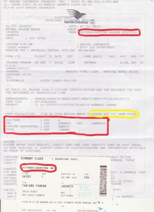 Tiket Garuda Indonesia Vina